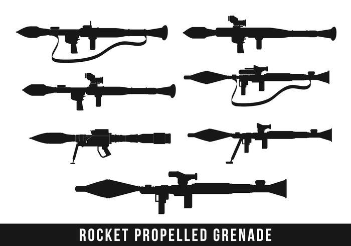 Rpg Raketsilhouet vector