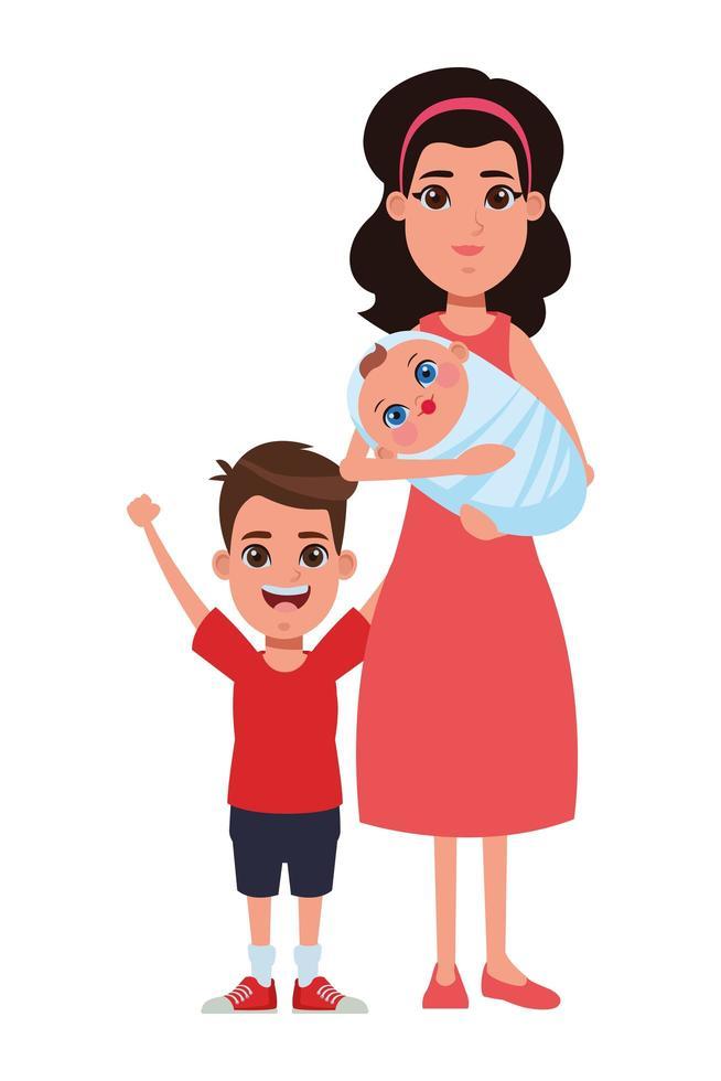 familie stripfiguren vector