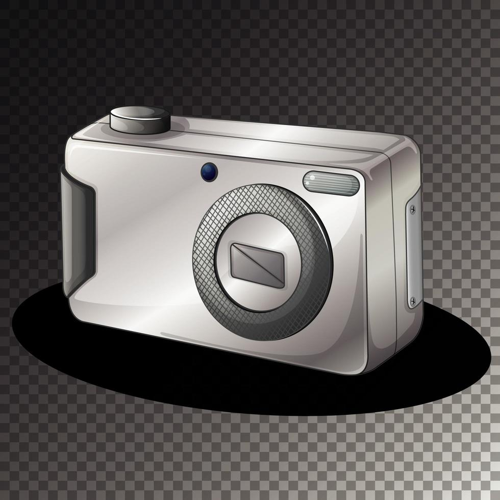 geïsoleerde digitale camera op transparante achtergrond vector