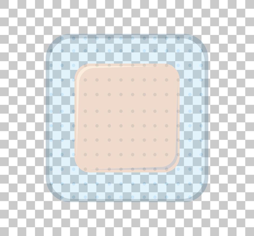 medische pleister geïsoleerd op transparante achtergrond vector