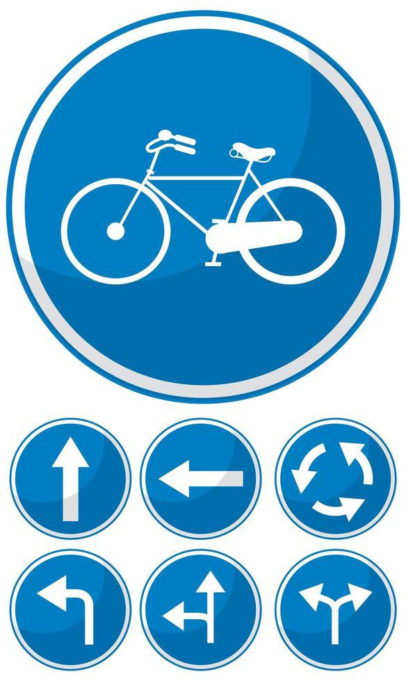 blauw verkeersbord op witte achtergrond vector