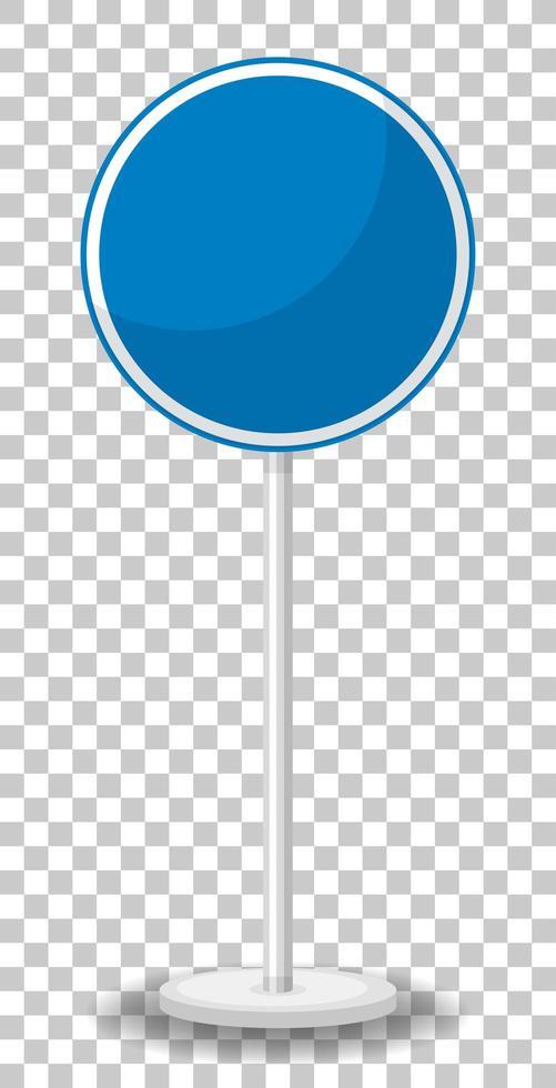 blauw verkeersbord op transparante achtergrond vector