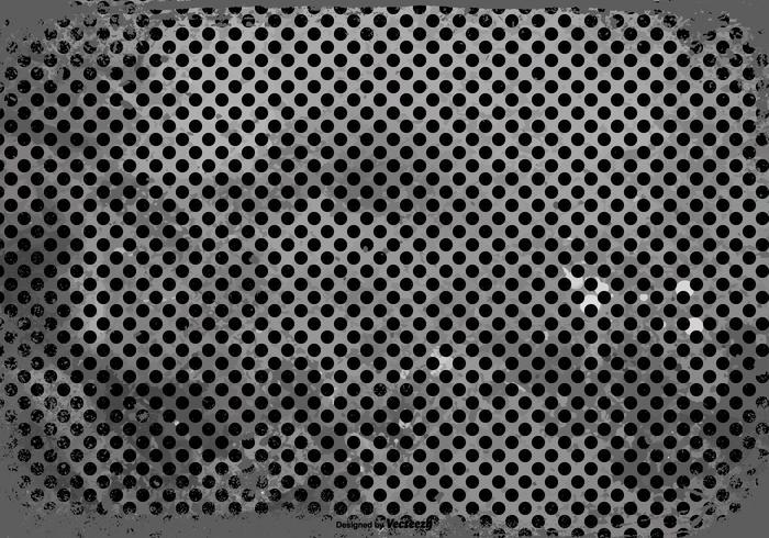 Zwarte Grunge Polka Dot Achtergrond vector