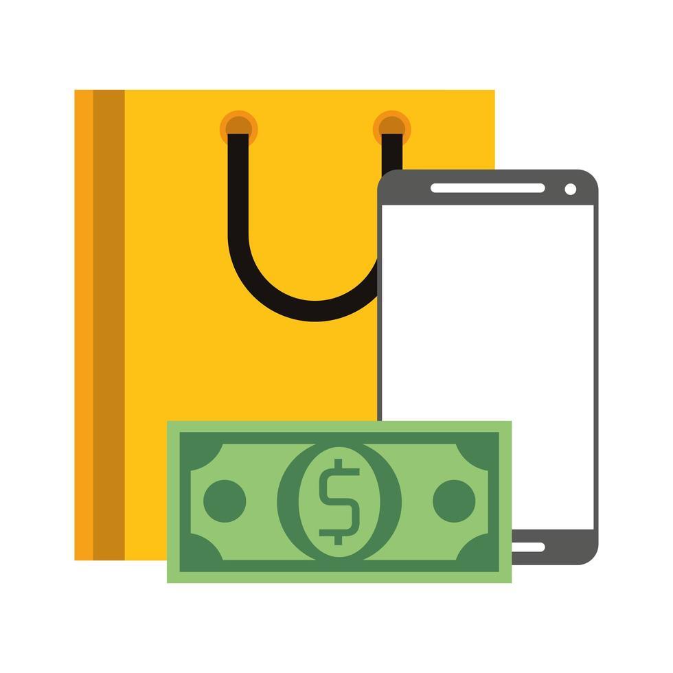 online winkelen en elektronisch betalen vector