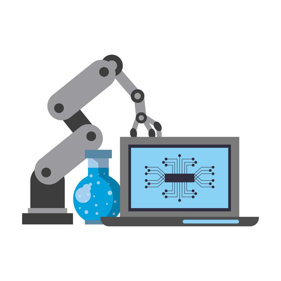 kunstmatige intelligentie concept cartoon samenstelling vector