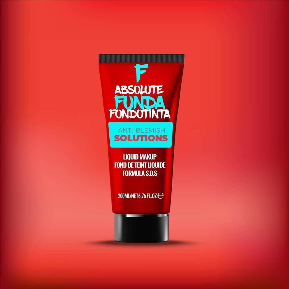 foundation elegante luxe cosmetica verpakking buis sjabloon vector