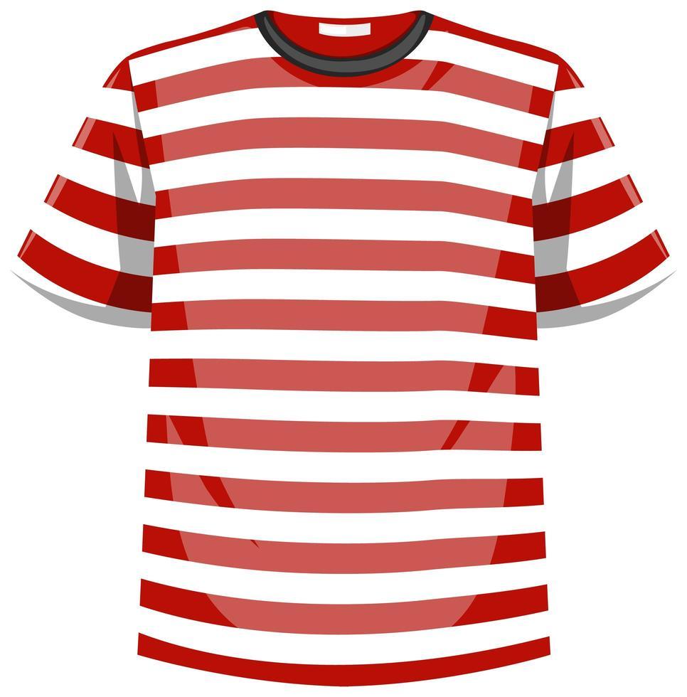 de rode en witte t-shirt van het strepenpatroon vector