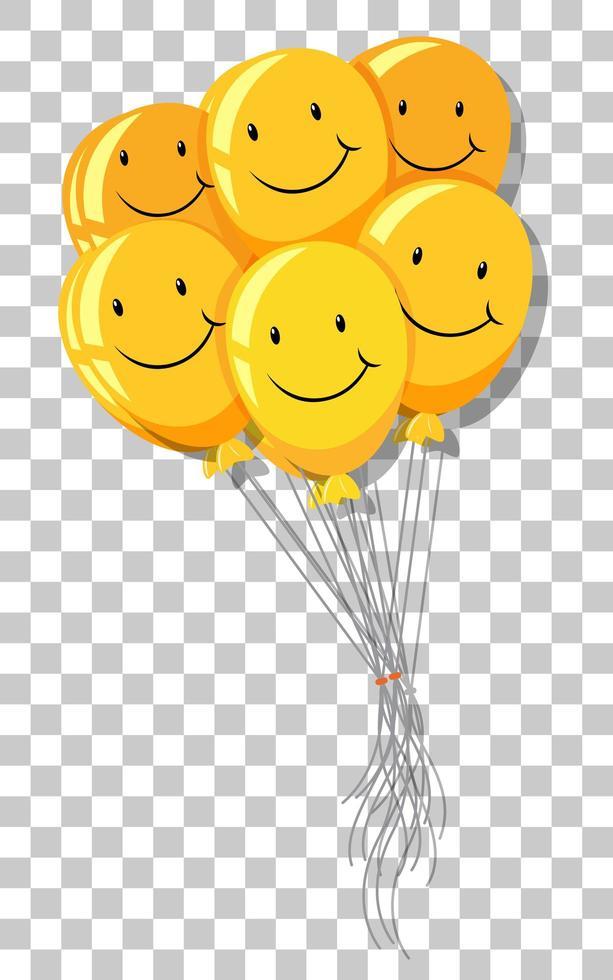 geel lachballonboeket vector