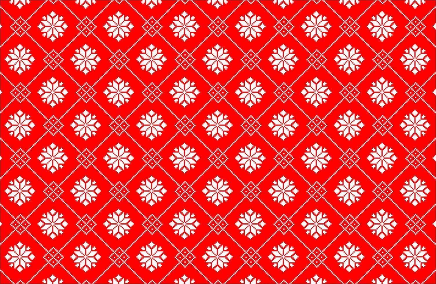 Kerststerpixelpatroon vector