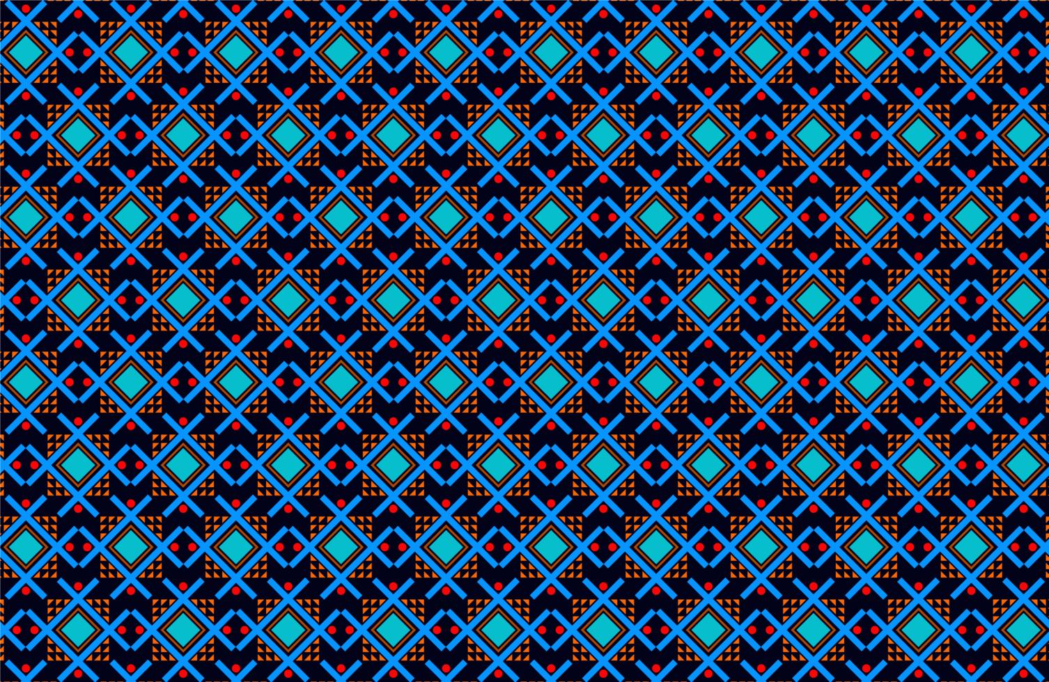 rood en blauw ribal vormen stoffenpatroon vector