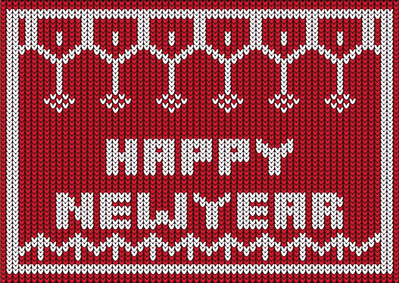 gelukkig nieuwjaar gebreid ontwerp vector