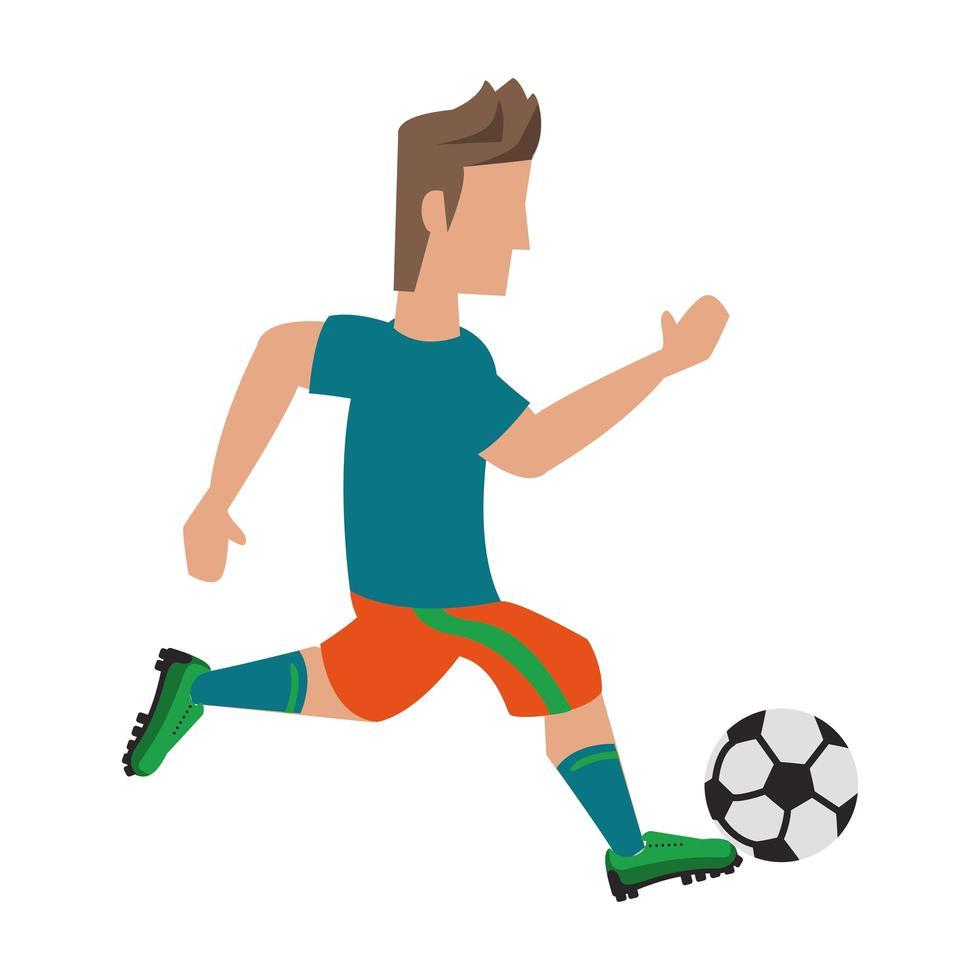 sportontwerp met voetballer vector