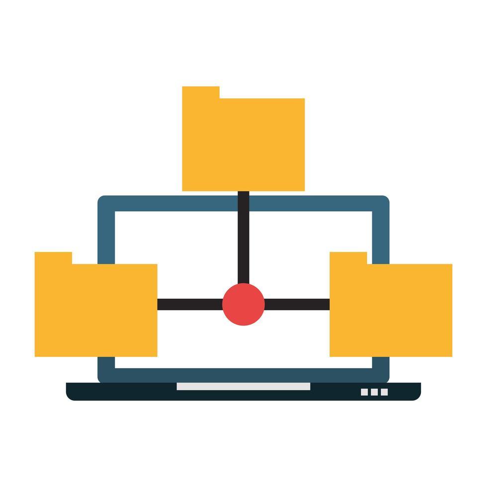 kantoor en bedrijfstechnologie concept vector