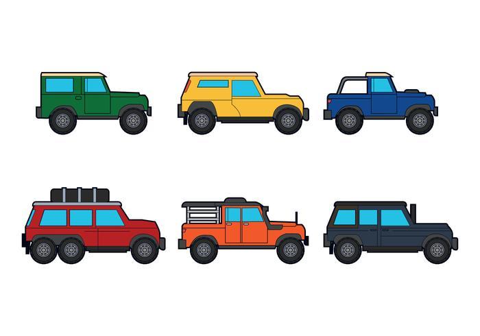 Off road vector auto's