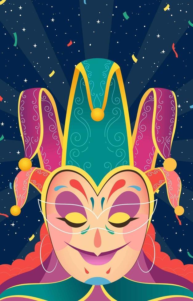 mardi gras poster concept vector