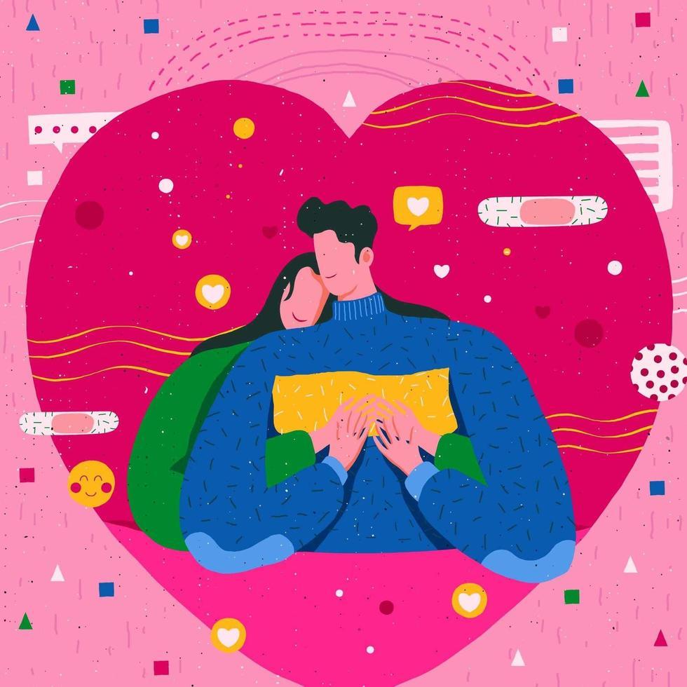 gelukkig valentijn behang vector