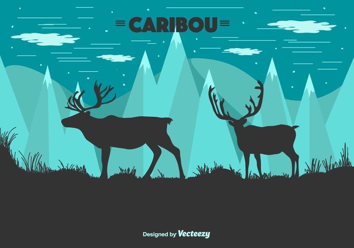 Caribou Vector Achtergrond