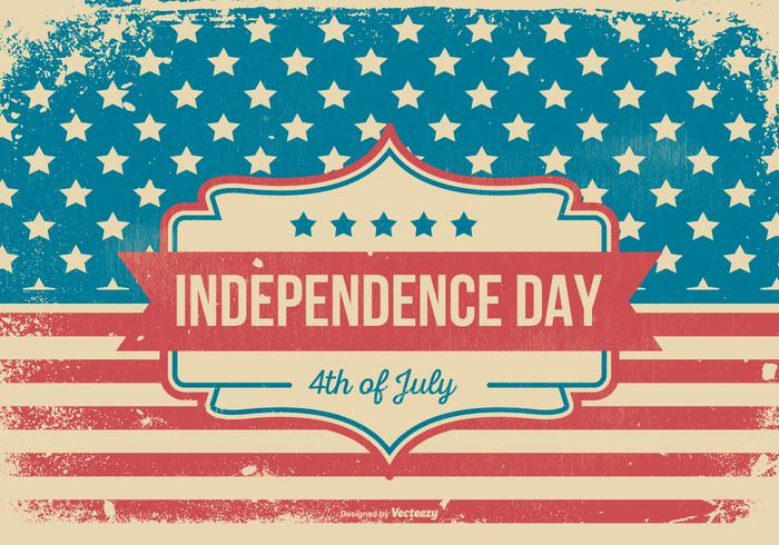 Grunge Style Independence Day Illustratie vector