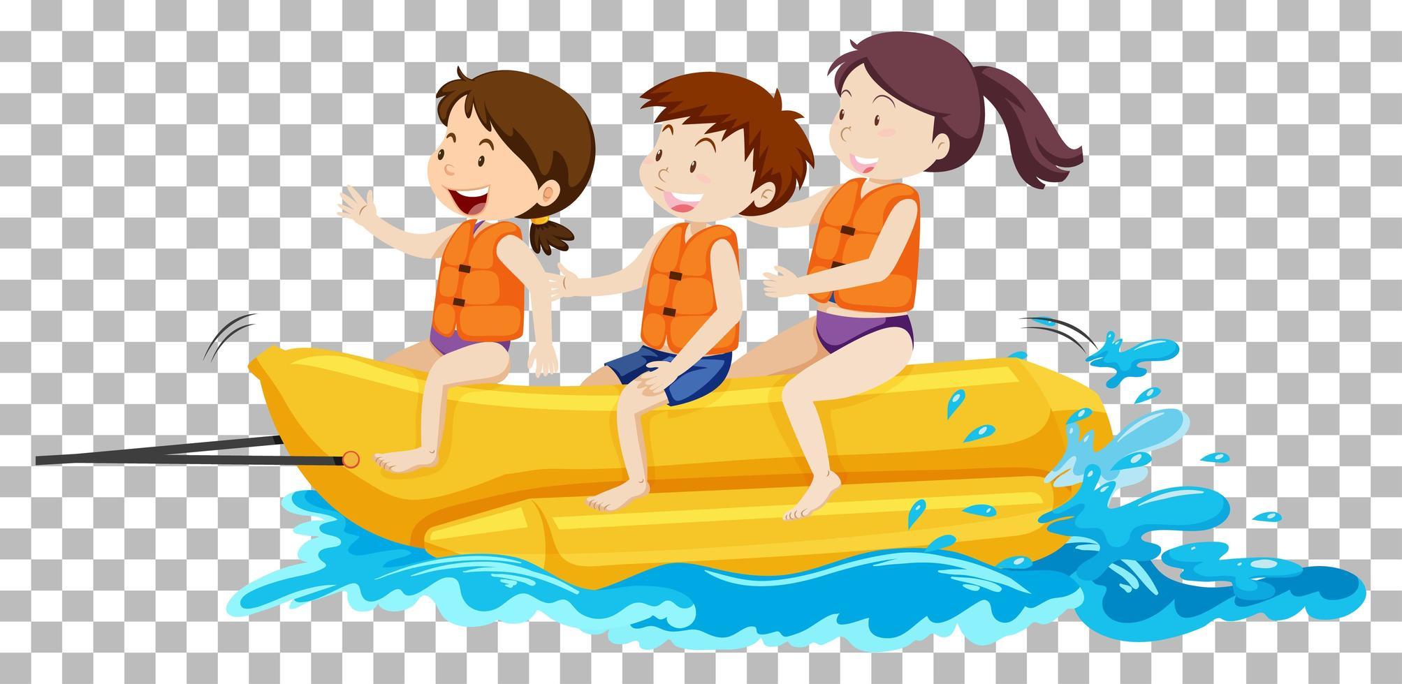 kinderen op de bananenboot vector