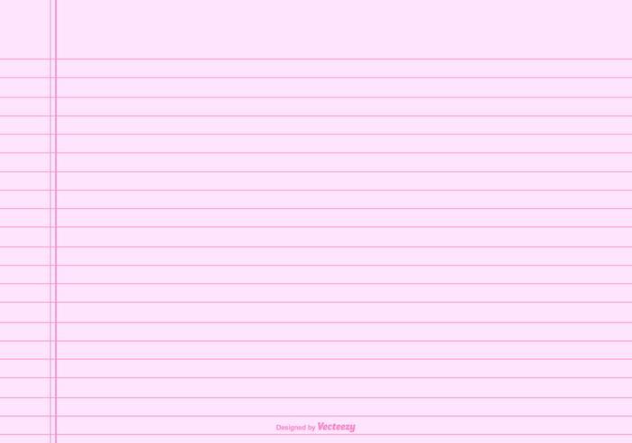 Roze Lined Notitiepapier Achtergrond vector