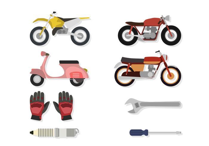 Vlakke Motorkruisvectoren vector