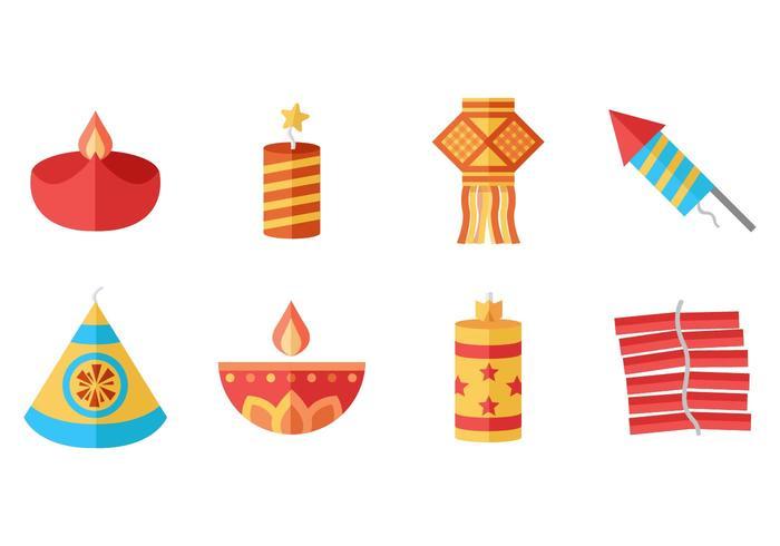 Gratis Diwali Pictogrammen Vector. vector