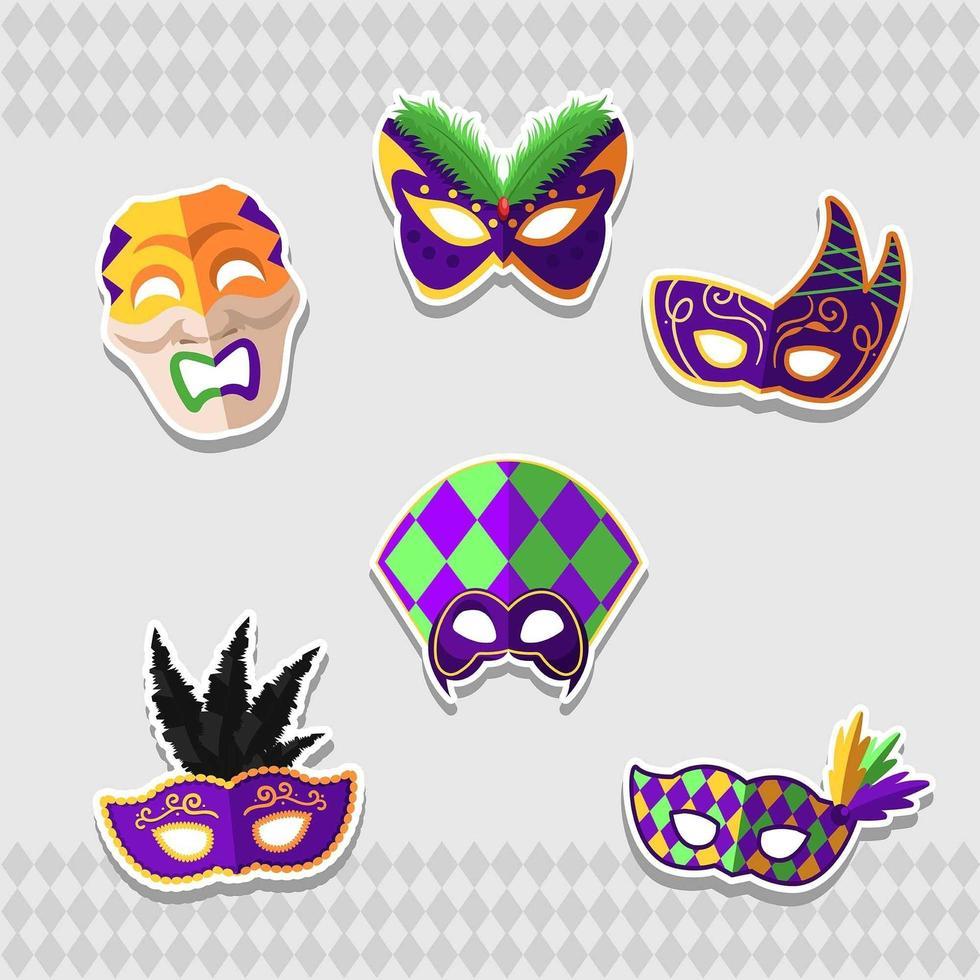 geweldig mardi gras-masker voor carnaval vector