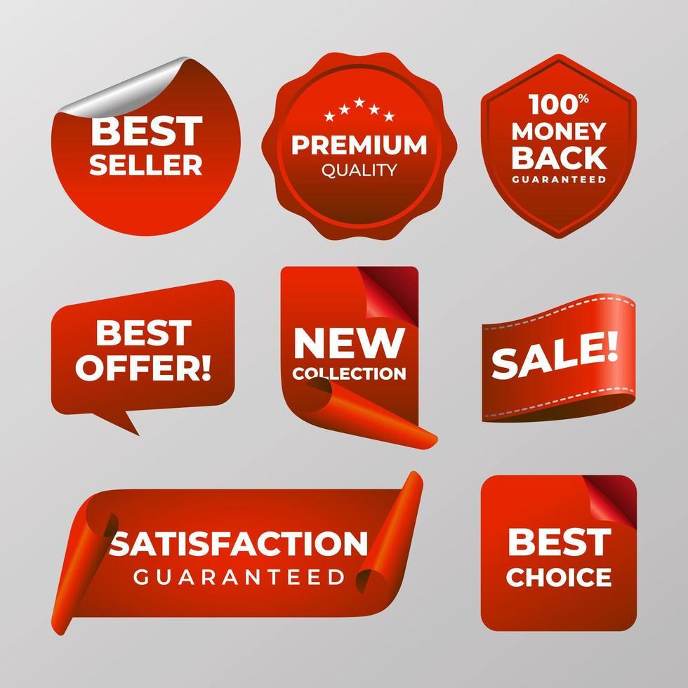bedrijfs- en marketingetiketten vector