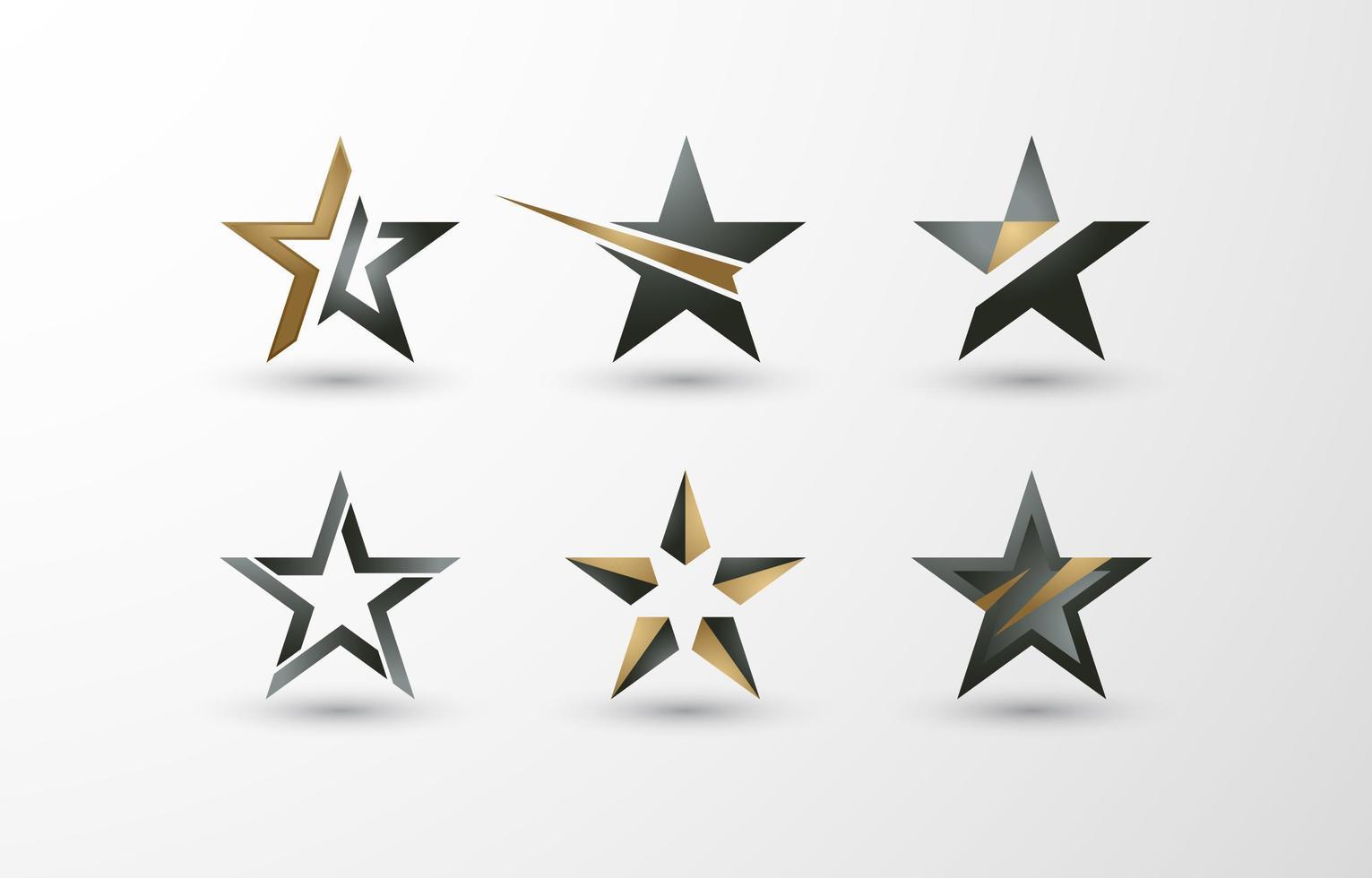 logo van sterren vector