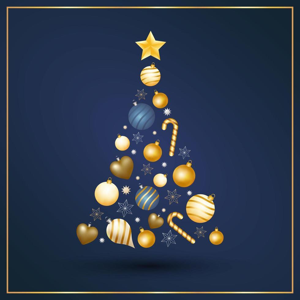 moderne kerstboom vector