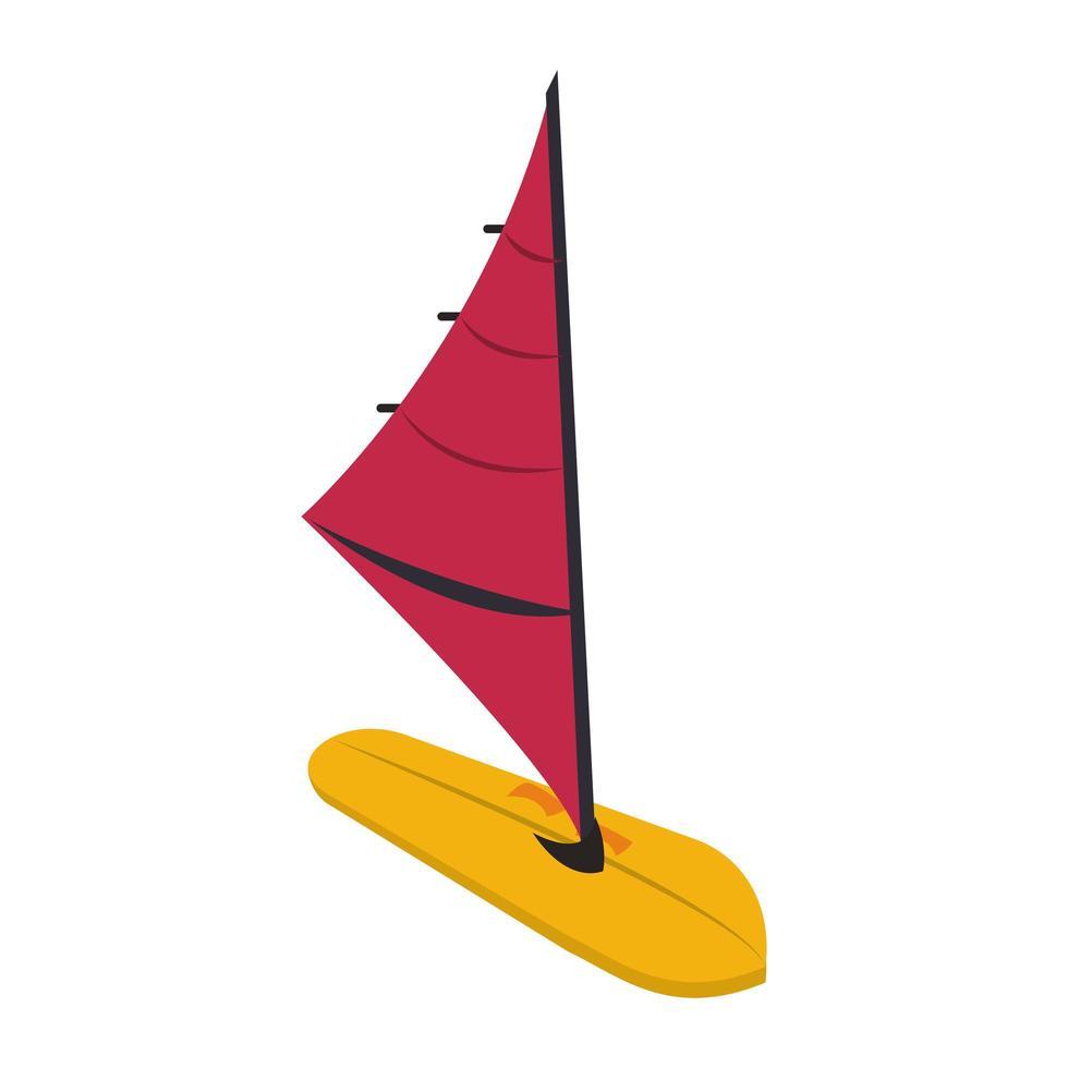 windsurf tafel zijaanzicht apparatuur geïsoleerd vector