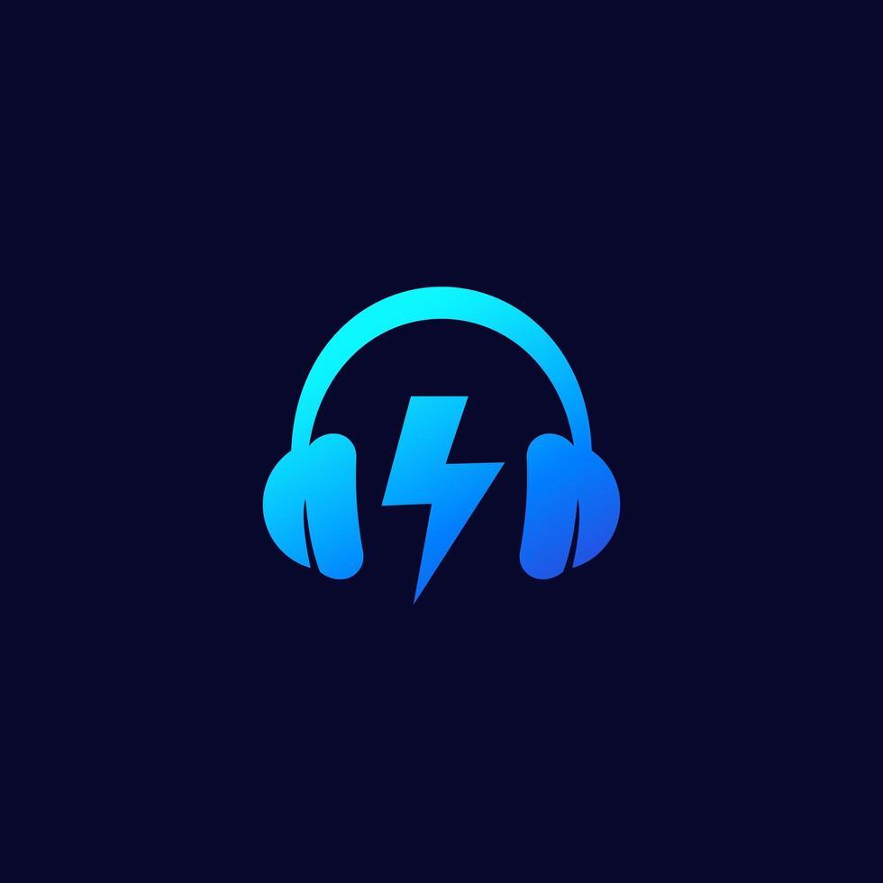 muziek en geluid logo-ontwerp vector