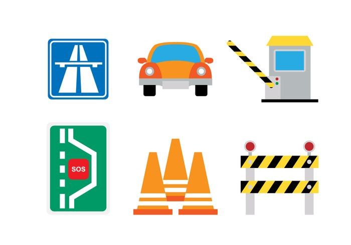 Flat Icon Icon Set vector