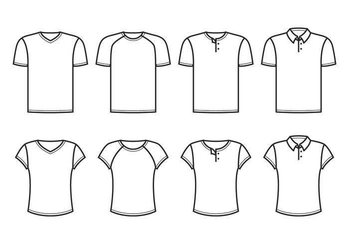 V-hals Tshirt vector