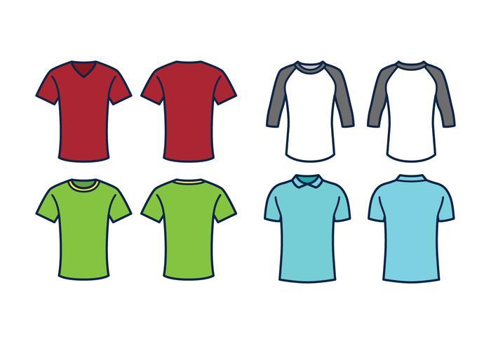 T-shirt Sjabloon Vector Set