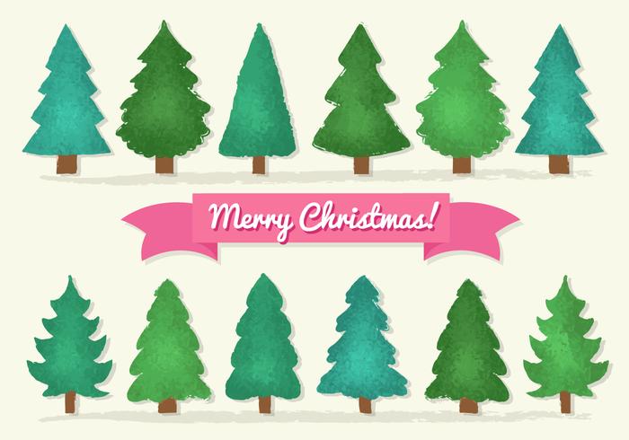 Gratis Kerstbomen vector