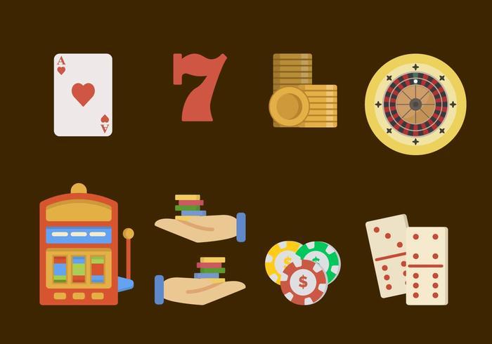 Plat casino vectoren