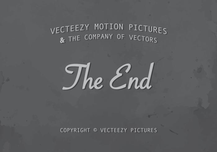 Het eindtitel Silent Film Screen vector