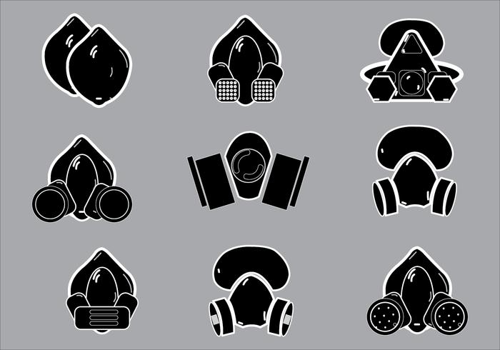 Eenvoudige illustratie van silhouetvectoren van respirator vector