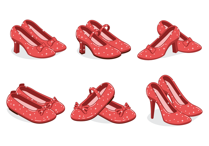 Ruby Slippers Vector Met Sparkly Effect