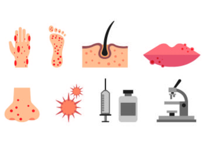 Set Dermatologie Pictogrammen vector