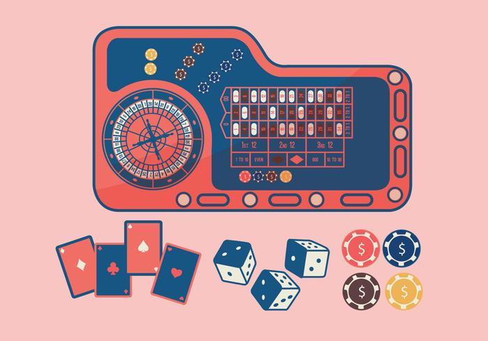 Roulette Tafel Kleurrijke Vector