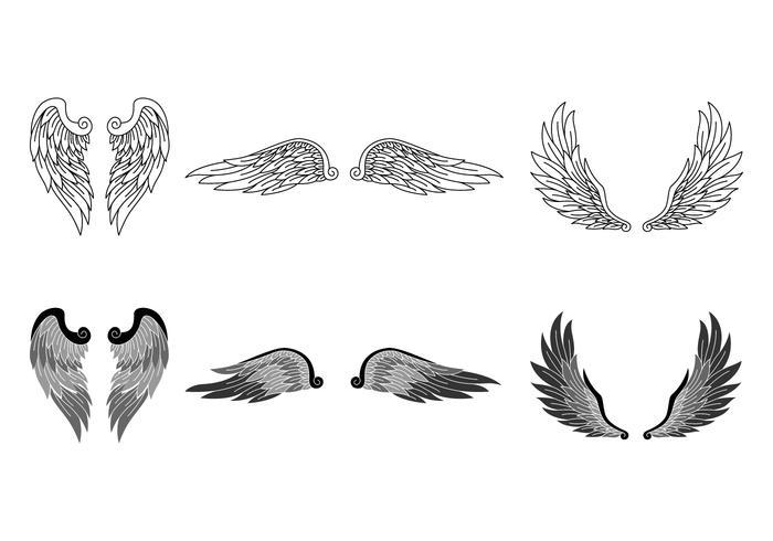 Realistische Angel Wings vector