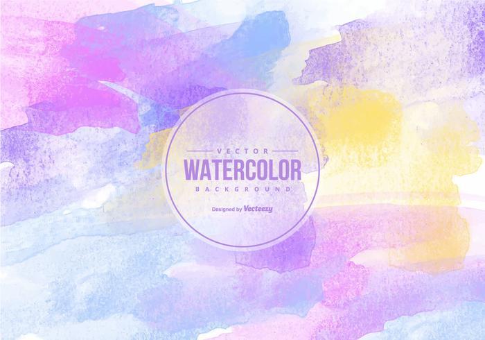 Mooie Veelkleurige Waterverfachtergrond vector