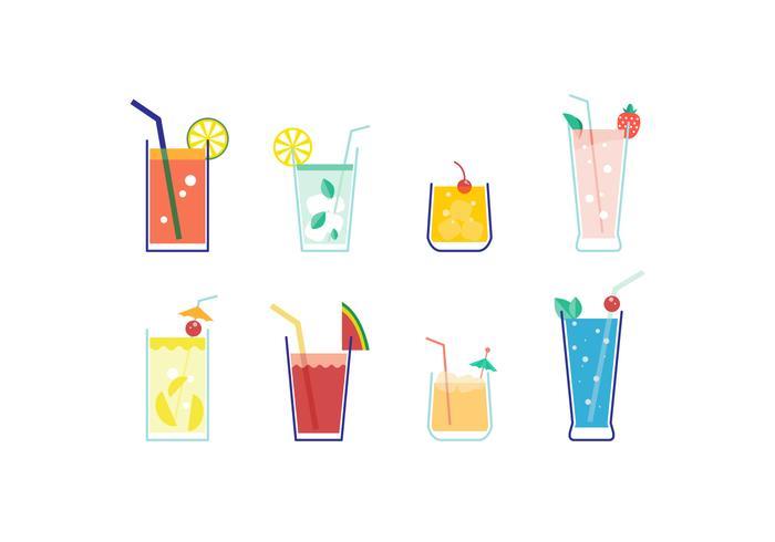 Gratis Mocktail Vector Collectie
