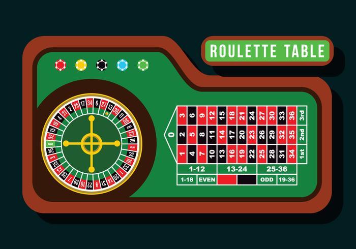 Roulette tafel platte vector