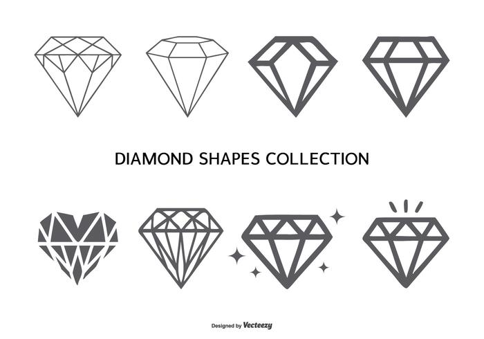 Vector Diamantvormen Collectie