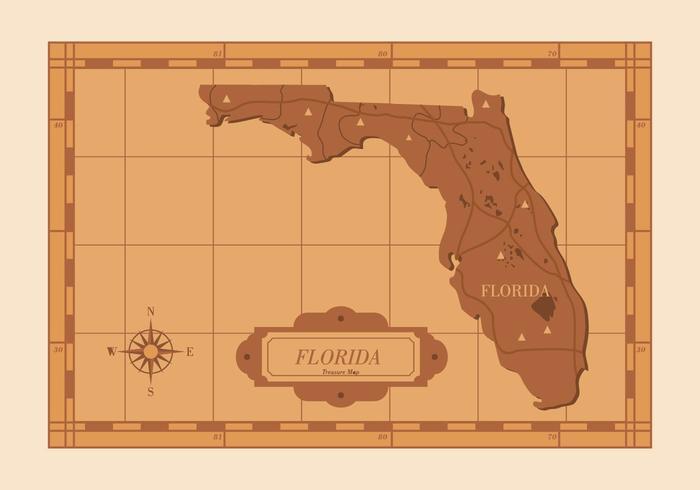 Florida Kaart Illustratie vector