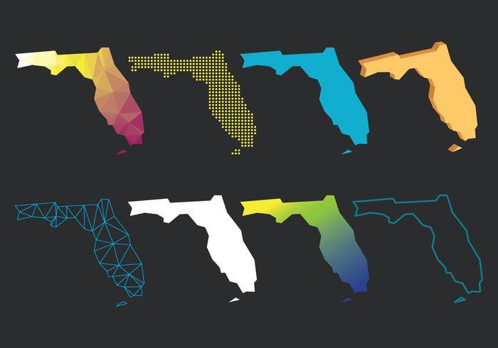 Florida Kaart Set vector