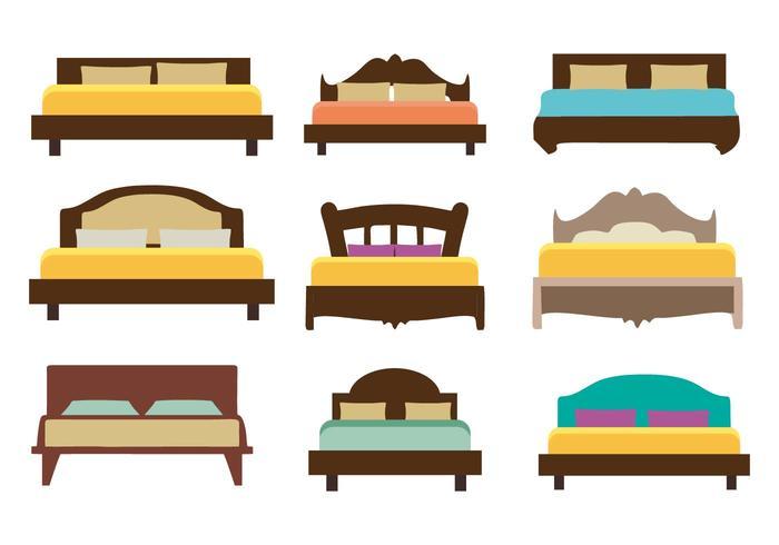 Gratis Meubilair Bed Vector